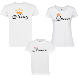 Семеен комплект - King, Queen and Princess